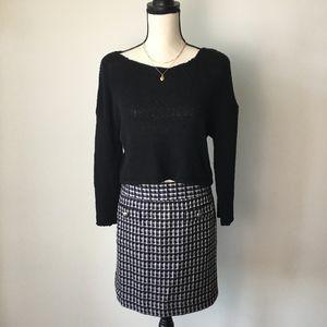 Ann Taylor LOFT Plaid Boucle Shift Skirt